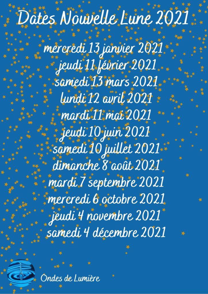 dates nouvelle lune